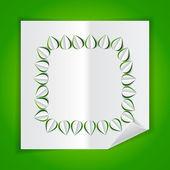 与叶切除纸制的框架 — 图库矢量图片