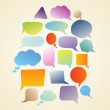 Set of speech bubbles — Image vectorielle