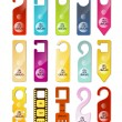 Do not disturb signs set — Stock Vector