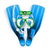 Diving equipment — Stock Vector