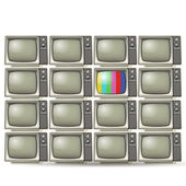 Vintage tvs — Stock Vector