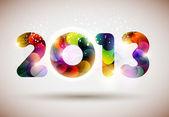 新的一年 2013 — 图库矢量图片