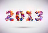 νέο έτος 2013 — Διανυσματικό Αρχείο