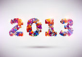 新しい年 2013 — ストックベクタ