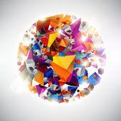 Boule colorée — Vecteur