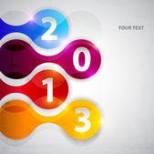 Felice nuovo anno 2013 — Vettoriale Stock