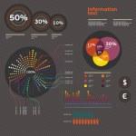 ensemble d'éléments de l'infographie — Vecteur