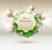 рождественский баннер — Cтоковый вектор