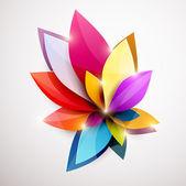 花の抽象的な背景. — ストックベクタ