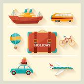 летние каникулы. — Cтоковый вектор