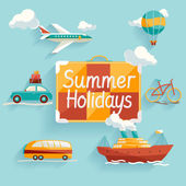 Summer holiday. — Vector de stock