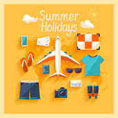 Summer holiday. — Stock Vector