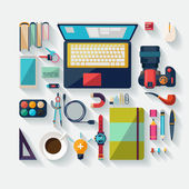 Office workspace. — Stock Vector