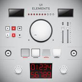 Diseño de interfaz de usuario web. elementos de la iu — Vector de stock