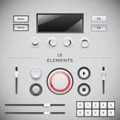 User interface web elements. UI vector set — Stockvektor