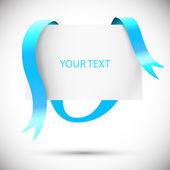 Sale frame. Turquoise ribbons. Vector illustration — Vetor de Stock