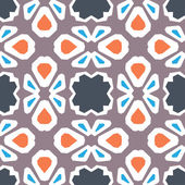 Seamless mönster. geometriska blommig vektor — Stockvektor