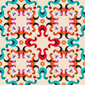 Seamless retro pattern. Floral repeat texture. Vector illustration — Stock Vector