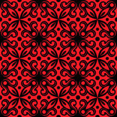 Seamless pattern with floral array. Vector red texture — Stock Vector