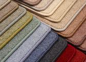 Prover av beläggningar av en matta — Stockfoto