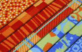 Samples of coverings of a carpet — Stock Photo