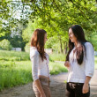 Two girls outdoor — Stock fotografie