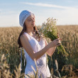 Girl at the field — Stock Photo