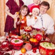 Christmas family portrait — Stock Photo #12590394