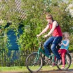 Children with their bikes — Stock Photo #18612089
