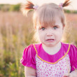 Portrait of a crying little girl — Stock Photo