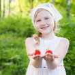 Stock Photo: Smile girl with strawberry