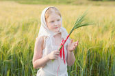 Russian girl outdoor — Stock Photo