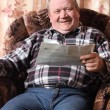 Happy elderly men indoor - Stock Photo