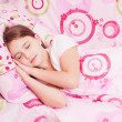 Stock Photo: Sleeping girl