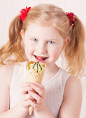 Girl with ice-cream — Stock Photo