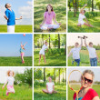 Collage with sport theme — Stockfoto