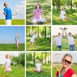 Foto Stock: Collage with sport theme