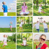 Collage with sport theme — Stock Photo