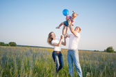 Happy family outdoor — Foto de Stock