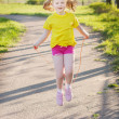 Jumping girl — Stock Photo #26346837