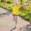 Stock Photo: Jumping girl