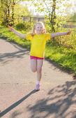 Jumping girl — Стоковое фото
