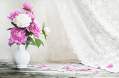 Flowers on white background — Stock Photo