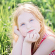 Smile girl on the meadow — Stock Photo