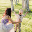 Mother and her child in park — Stock Photo