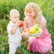 Mother and her child outdoor — Stock Photo #30460905