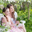Mother with daughter in garden — Stock Photo #30462219