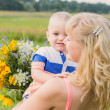 Mother and her child outdoor — Stock Photo