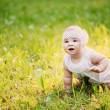 Summer portrait of beautiful baby girl — Stock Photo