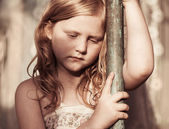 Portrait of sad child — Stock Photo
